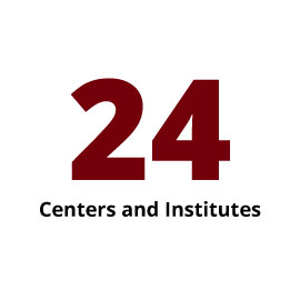Infographic: 24 Centers and Institutes