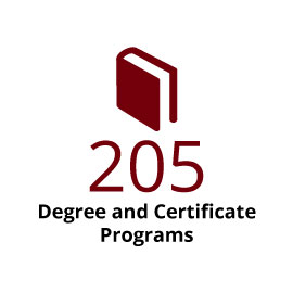 Infographic: 205 degree & certificate programs