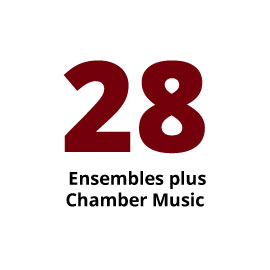 Infographic: 28 Ensembles plus Chamber Music
