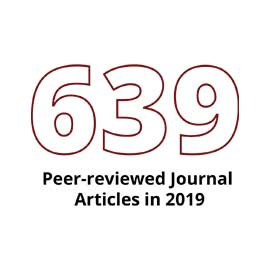 Infographic: 639 peer-reviewed journal articles in 2019