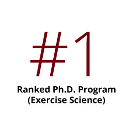 Infographic: #1 ranked PhD Program (Exercise Science)