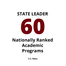 state leader: 56 nationally ranked academic programs