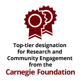 Top-tier designation for Research and Community Engagement from the Carnegie Foundation.