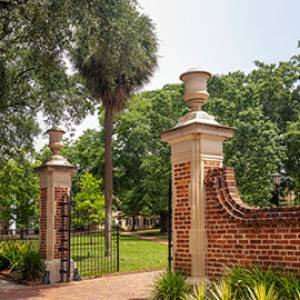 The gates on the south side of the historic Horseshoe
